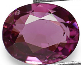 Sri Lanka Spinel, 1.38 Carats, Pinkish Purple Oval