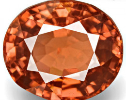 IGI Certified Burma Spinel, 4.14 Carats, Intense Brownish Orange Oval