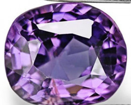 IGI Certified Burma Spinel, 2.90 Carats, Fiery Purple Cushion