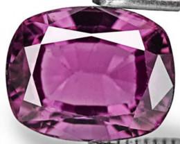 Sri Lanka Spinel, 1.94 Carats, Deep Purple Cushion