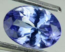 0.82 Cts Natural Purplish Blue Tanzanite Oval Cut Tanzania
