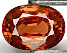 GII Certified Burma Spinel, 4.06 Carats, Reddish Brownish Orange Oval