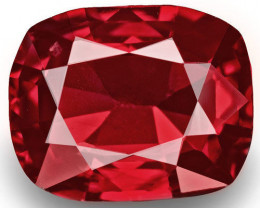 Burma Spinel, 0.84 Carats, Red Cushion