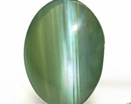India Alexandrite Cat's Eye, 0.40 Carats, Dark Green to Light Greyish Red