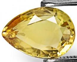 Sri Lanka Chrysoberyl, 1.63 Carats, Deep Yellow Pear