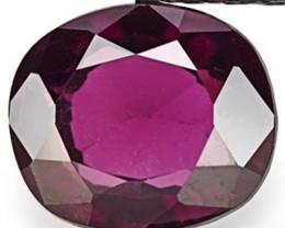 Sri Lanka Spinel, 1.40 Carats, Dark Purple Cushion