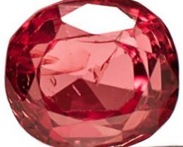 Burma Spinel, 1.02 Carats, Orangish Pink Oval