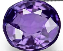 IGI Certified Sri Lanka Spinel, 1.30 Carats, Deep Purple Oval