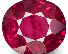 Burma Spinel, 0.76 Carats, Pinkish Red Oval