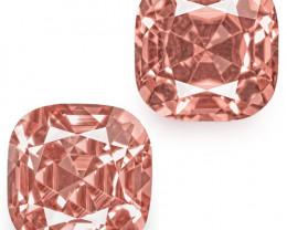 IGI Certified Tajikistan Spinels, 2.48 Carats, Lustrous Pastel Pink Cushion