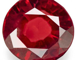 Burma Spinel, 0.93 Carats, Orangy Red Oval