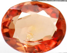 AIGS Certified Burma Spinel, 0.83 Carats, Orangy Brown Oval