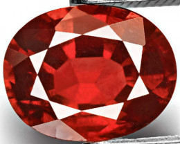 IGI Certified Burma Spinel, 1.90 Carats, Deep Orangy Red Oval