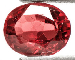 Burma Spinel, 0.87 Carats, Apricot Red Oval