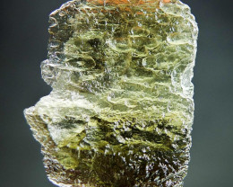Glossy Rare Moldavite 100% GENUINE! with open bubble