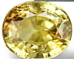 Sri Lanka Chrysoberyl, 1.69 Carats, Vivid Yellowish Green Oval