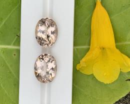 30.40 Carats Morganite  Pairs Gemstones