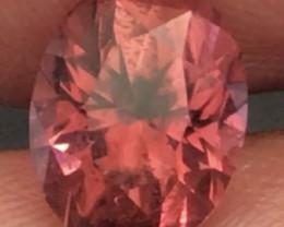 2.51ct Custom Cut Orangey Red Tourmaline - H687