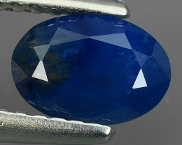 1.10 CTS AWESOME BLUE SAPPHIRE FACETED GENUINE OVAL