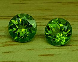 1.75Crt Peridot Pair  Natural Gemstones JI32