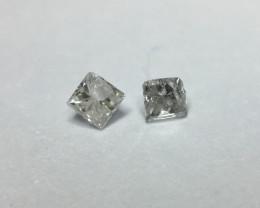 0.07 ctw f/g i1/i2 princess diamonds
