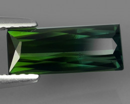 1.70 CTS-ALLURING TOP GREEN PARTY COLOR GREEN TOURMALINE OCTAGON CUT!!!