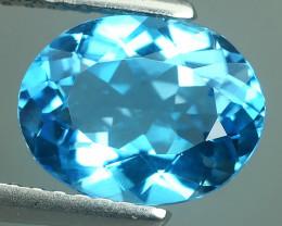 2.20 Cts Huge Fine Clean oval Cut swiss  Blue Topaz