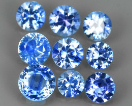 1.35 Cts Natural Intense Beautiful blue Sapphire round Shape Parcel!!!