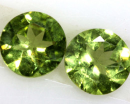 0.90 CTS PERIDOT BRIGHT GREEN  PAIR CG-18