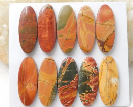 1 Set Multi Color Jasper Gemstone Cabochons Jasper Cabochon, Polished Gem D