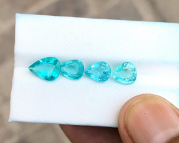 5.90 Ct Natural Blueish Transparent Apatite Gemstones Parcels