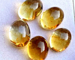 54.2 Tcw. African Golden Citrines 16mm x 12 - Gorgeous