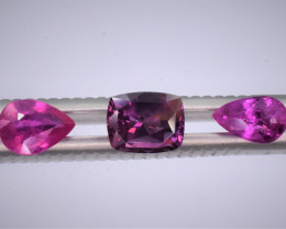 Sapphires 3 Pieces unheated 1.25 , 0.75 , 0.75 carats