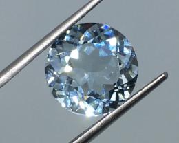 5.79 Carat VVS Topaz Soft Blue Color Flash Quality Amazing !