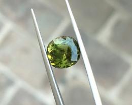 2.55 Ct Natural Greenish Yellow Transparent Tourmaline Gemstone