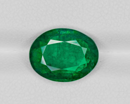 Emerald, 4.05ct - Mined in Zambia | Certified by GRS
