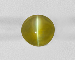 Chrysoberyl Cat's Eye, 6.42ct - Mined in India | Certified by IGI