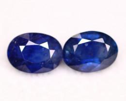 Sapphire 1.97Ct Natural Blue Sapphire Pair C2203