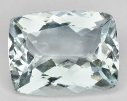 1.73 Cts Natural Nice Blue Aquamarine Cushion Cut Brazil