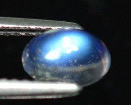 1.01 Cts Nature Royal Blue Moonstone Oval Cabochon Bihar - India