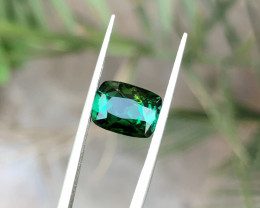 2.85 Ct Natural Greenish Transparent Tourmaline Ring Size Gemstone
