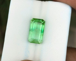 6.20 Ct Natural Greenish Transparent Tourmaline Gemstone