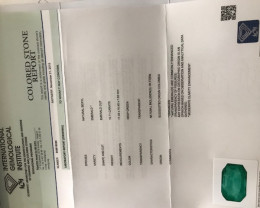 IGI  certificate of the emerald 10,71 ct