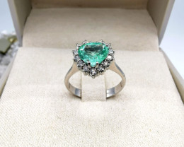 1,29ct Colombian Emerald 18k Solid Gold Ring Colombian Emeralds  Colombian