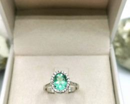 1,42ct Colombian Emerald 18k Solid Gold Ring Colombian Emerald Colombian Em