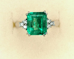 3,21ct Colombian Emerald 18k Solid Gold ring Colombian Emerald Colombian Em