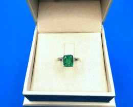2,28ct Colombian Emerald 18k Solid Gold Ring Colombian Emerald Colombian Em