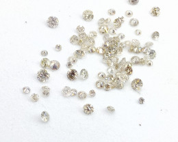 1.65ct White Color  Diamond Parcel , 100% Natural Untreated