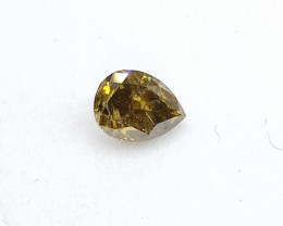 0.30ct  Fancy Deep Green  Brown  Diamond , 100% Natural Untreated