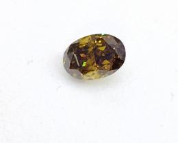 0.405ct Fancy Deep brownish Green   Diamond , 100% Natural Untreate